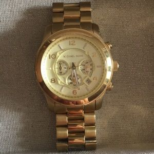 Michael Kors Over Sized Gold Watch